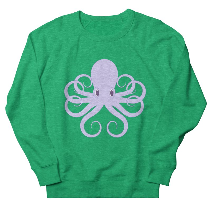Shock Cousteau's Octopus Men's French Terry Sweatshirt by Runderella's Artist Shop
