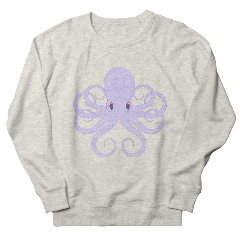 Shock Cousteau's Octopus Men's French Terry Sweatshirt by Runderella's Artist Shop