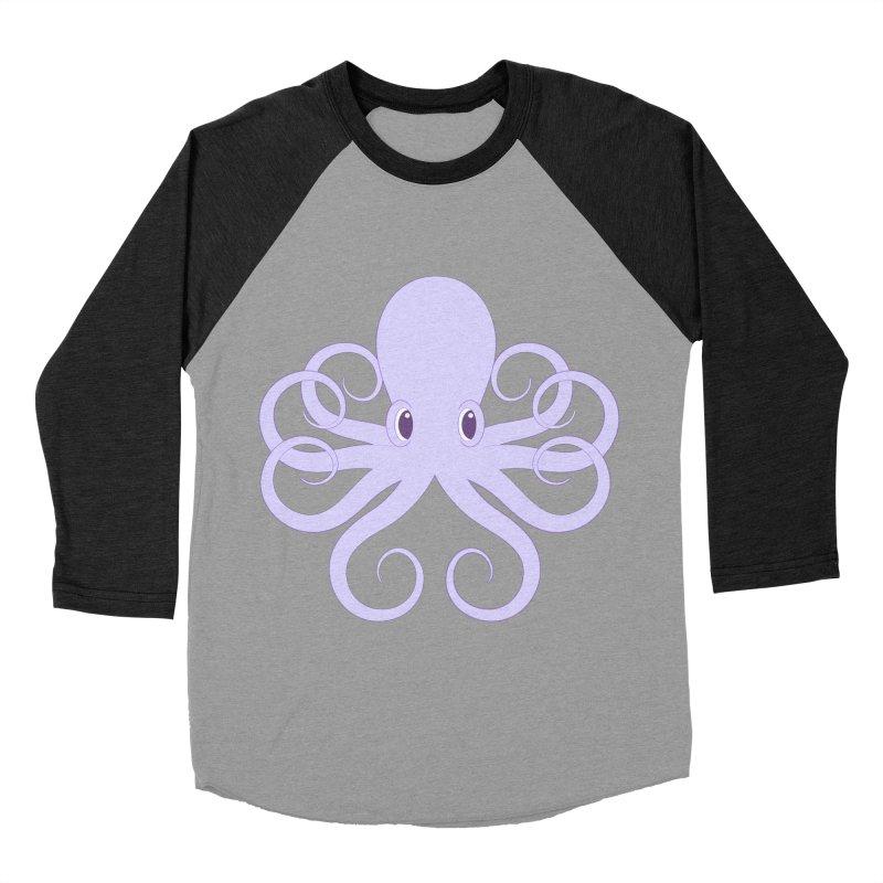 Shock Cousteau's Octopus Women's Baseball Triblend Longsleeve T-Shirt by Runderella's Artist Shop