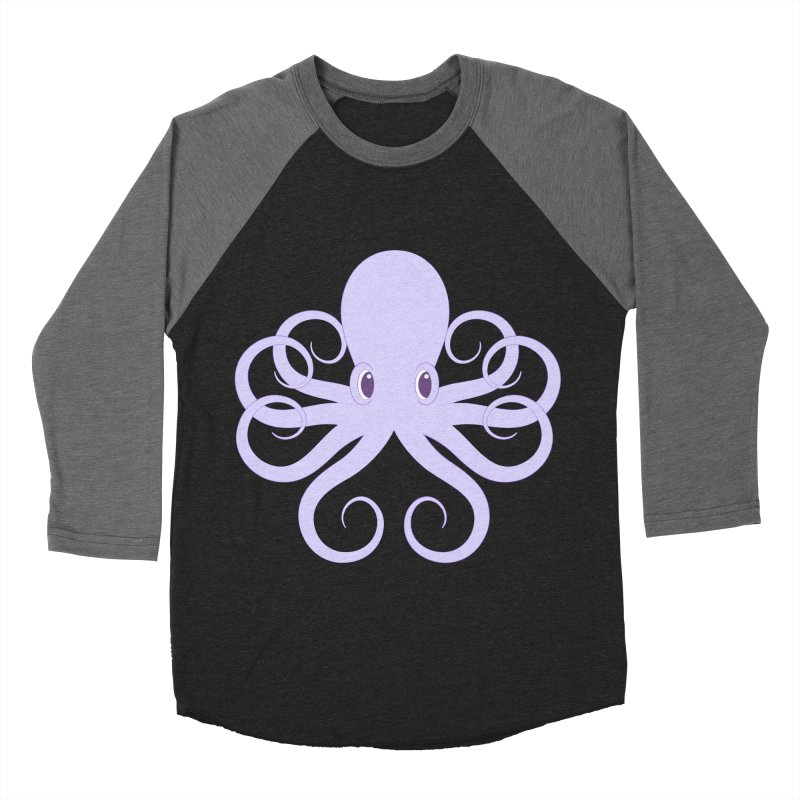 Shock Cousteau's Octopus Men's Baseball Triblend Longsleeve T-Shirt by Runderella's Artist Shop