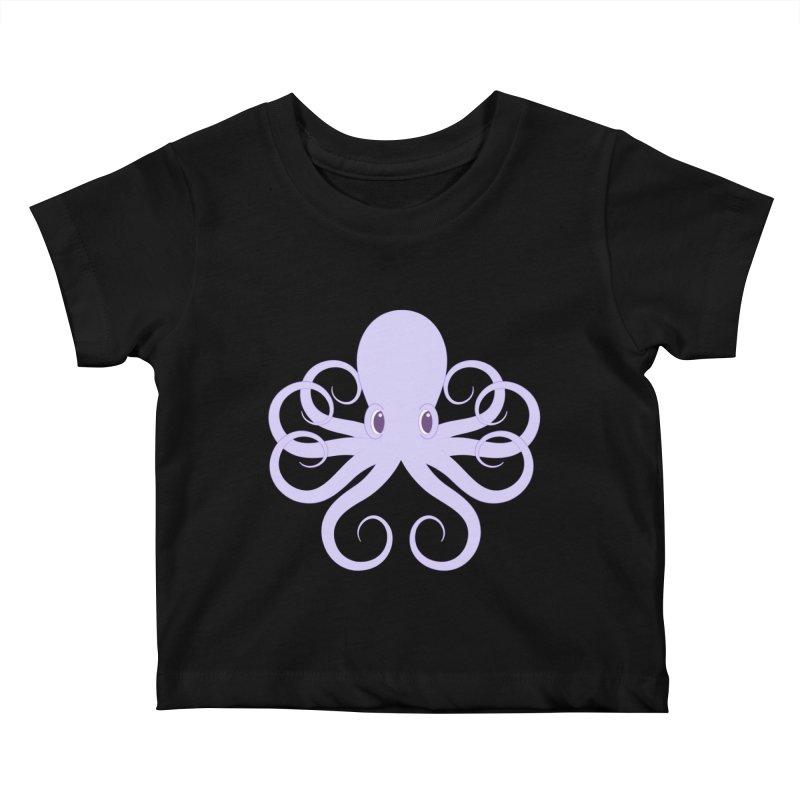 Shock Cousteau's Octopus Kids Baby T-Shirt by Runderella's Artist Shop