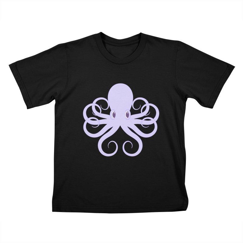 Shock Cousteau's Octopus Kids T-Shirt by Runderella's Artist Shop