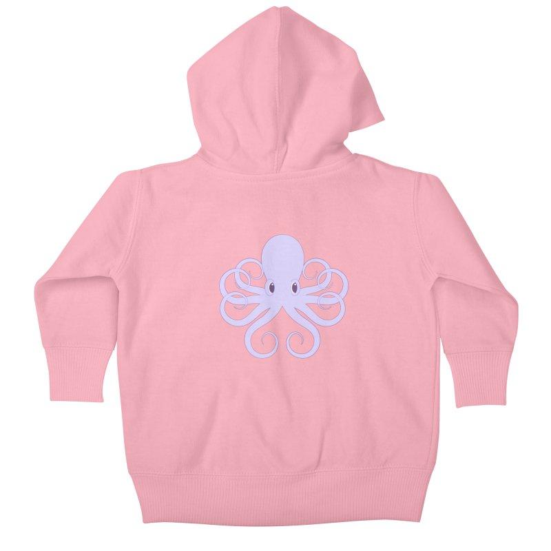 Shock Cousteau's Octopus Kids Baby Zip-Up Hoody by Runderella's Artist Shop