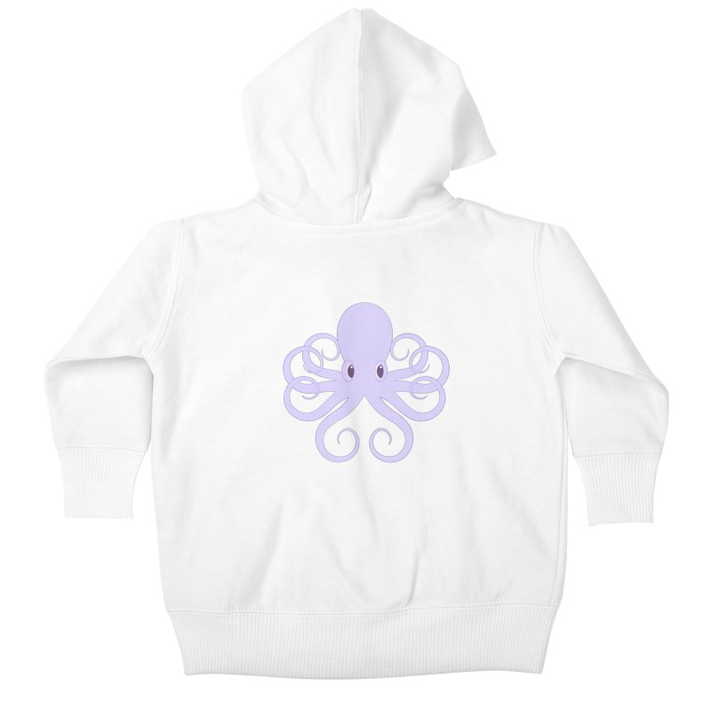 Shock Cousteau's Octopus Kids Baby Zip-Up Hoody by Runderella's Artist Shop
