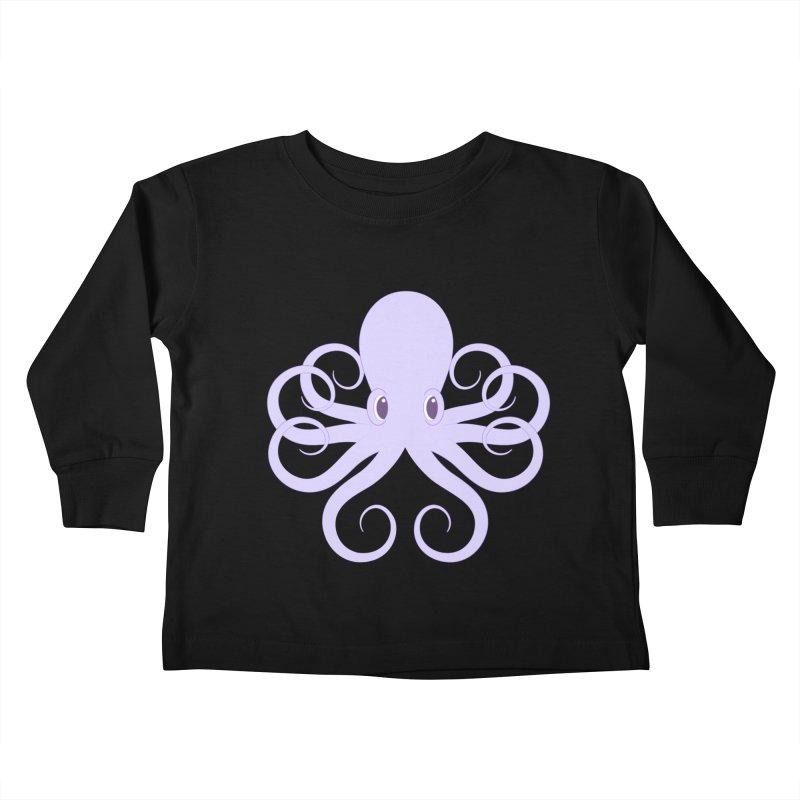 Shock Cousteau's Octopus Kids Toddler Longsleeve T-Shirt by Runderella's Artist Shop