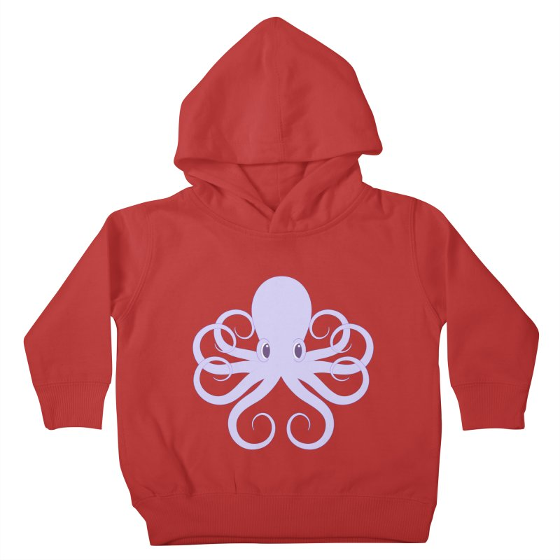 Shock Cousteau's Octopus Kids Toddler Pullover Hoody by Runderella's Artist Shop