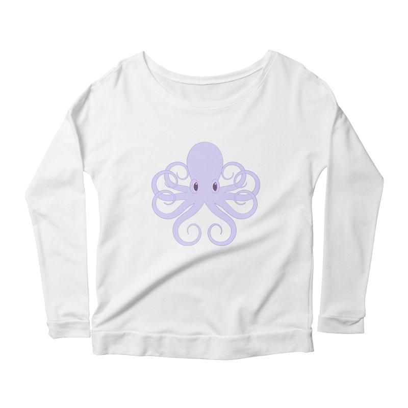 Shock Cousteau's Octopus Women's Scoop Neck Longsleeve T-Shirt by Runderella's Artist Shop