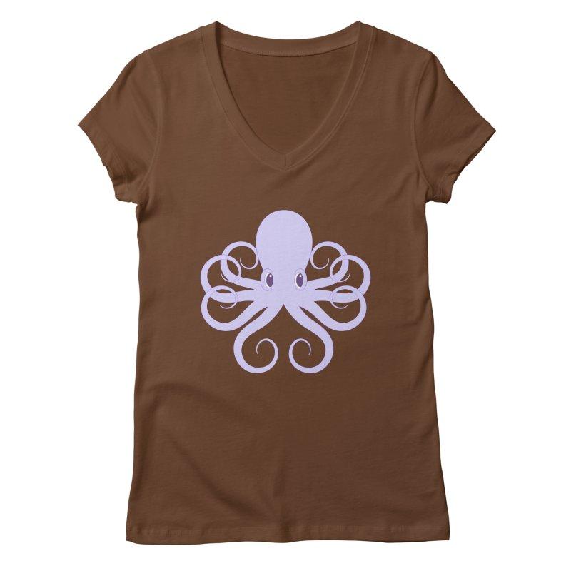 Shock Cousteau's Octopus Women's Regular V-Neck by Runderella's Artist Shop