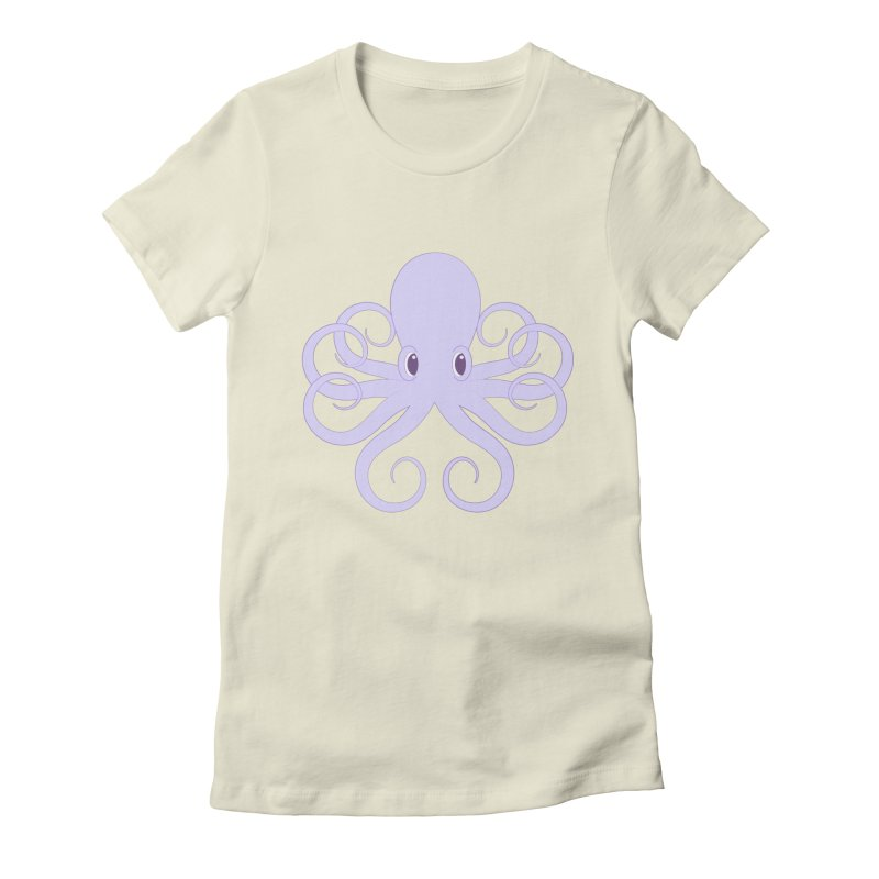 Shock Cousteau's Octopus Women's Fitted T-Shirt by Runderella's Artist Shop