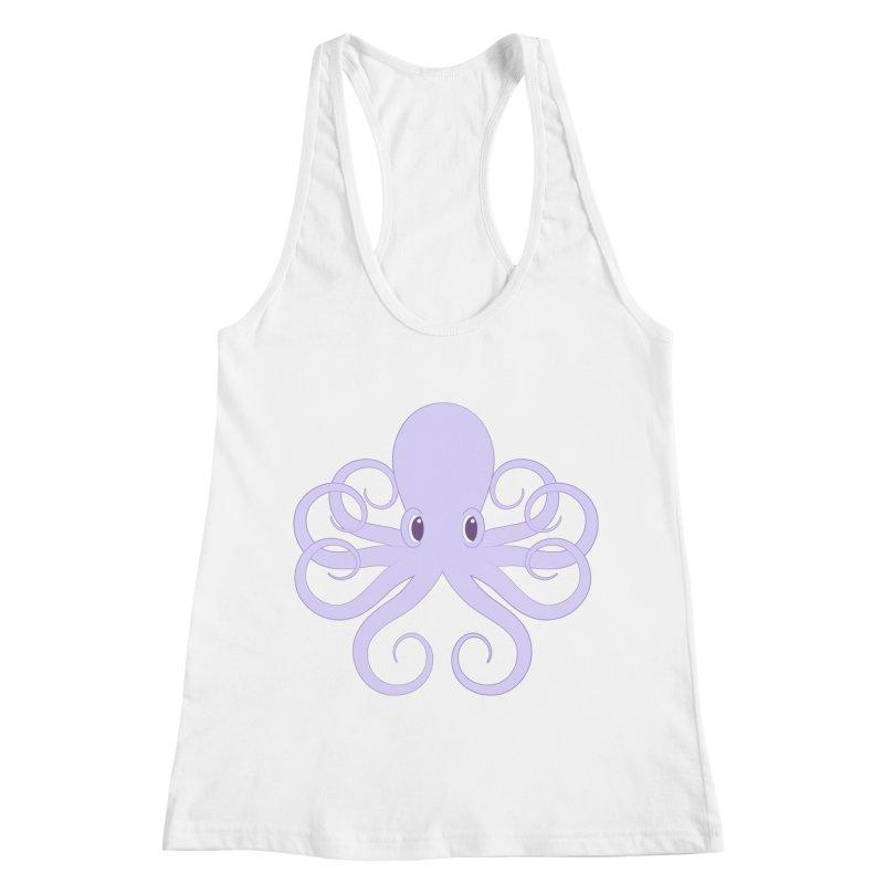 Shock Cousteau's Octopus Women's Racerback Tank by Runderella's Artist Shop