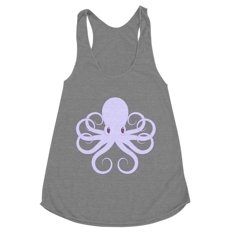 Shock Cousteau's Octopus Women's Racerback Triblend Tank by Runderella's Artist Shop