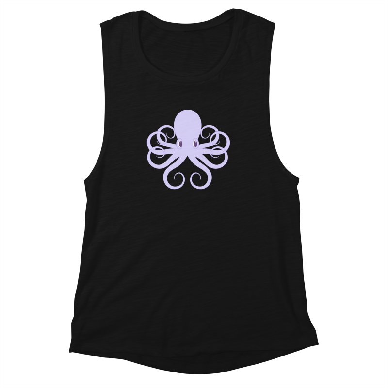 Shock Cousteau's Octopus Women's Muscle Tank by Runderella's Artist Shop