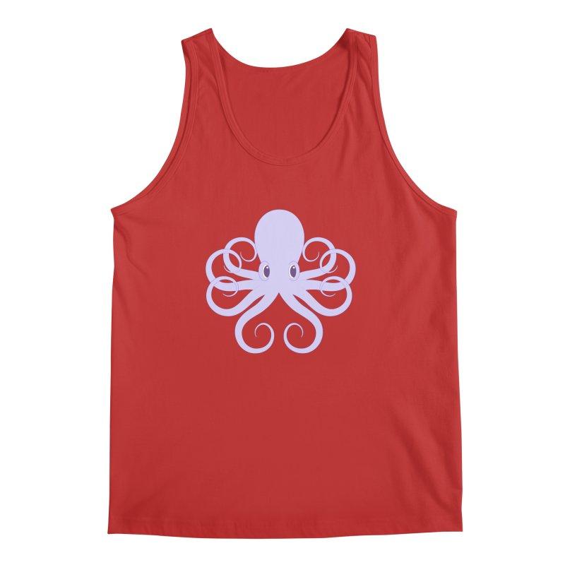 Shock Cousteau's Octopus Men's Regular Tank by Runderella's Artist Shop