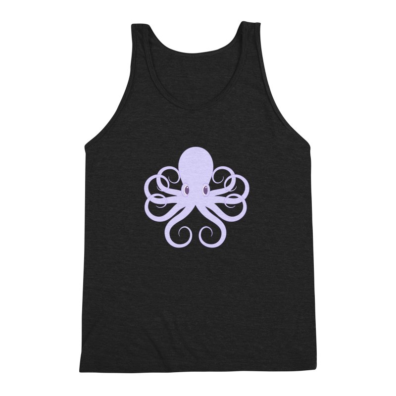 Shock Cousteau's Octopus Men's Triblend Tank by Runderella's Artist Shop