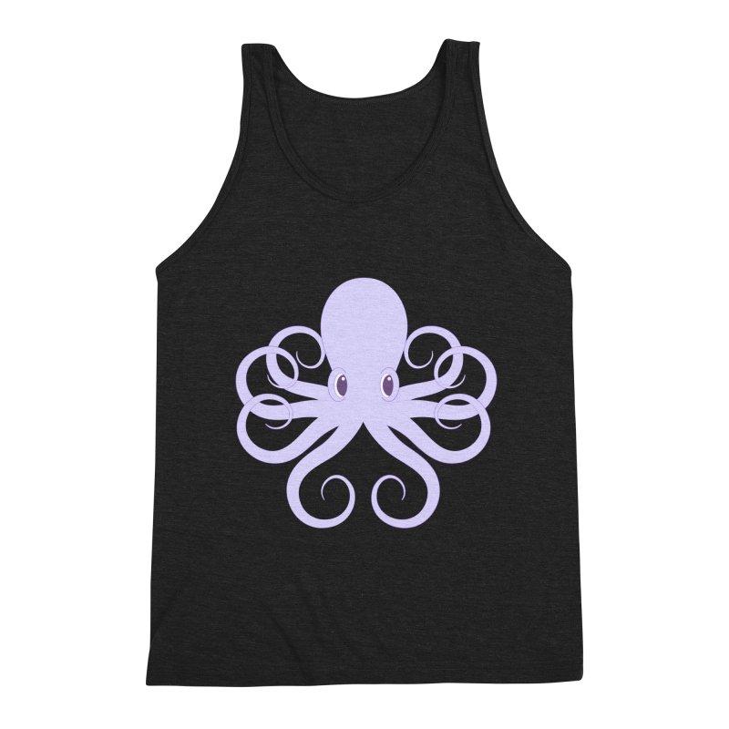 Shock Cousteau's Octopus Men's Triblend Tank by Runderella's Artist Shop