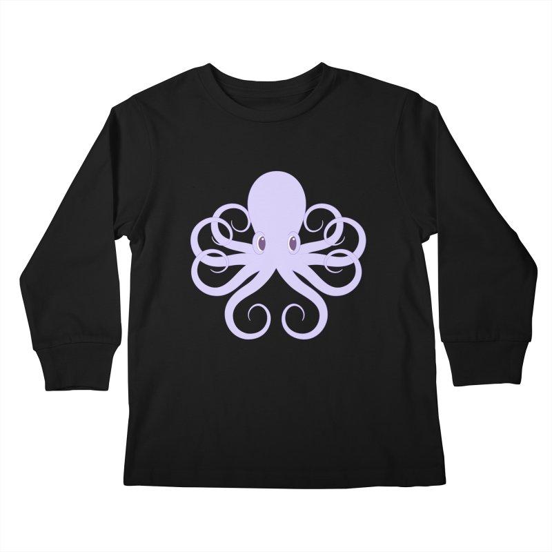 Shock Cousteau's Octopus Kids Longsleeve T-Shirt by Runderella's Artist Shop