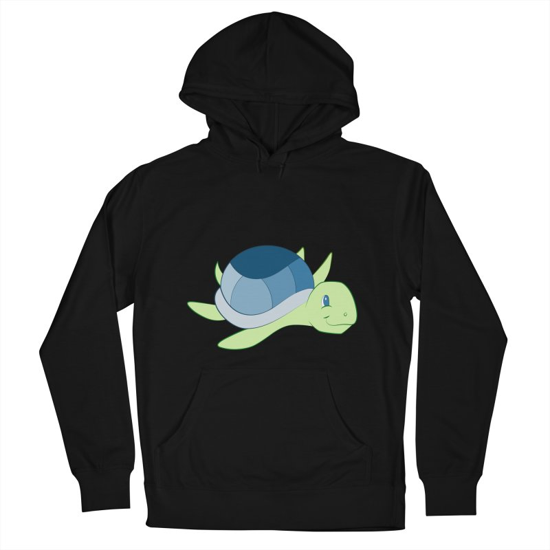Shock Cousteau's Sea Turtle Men's French Terry Pullover Hoody by Runderella's Artist Shop