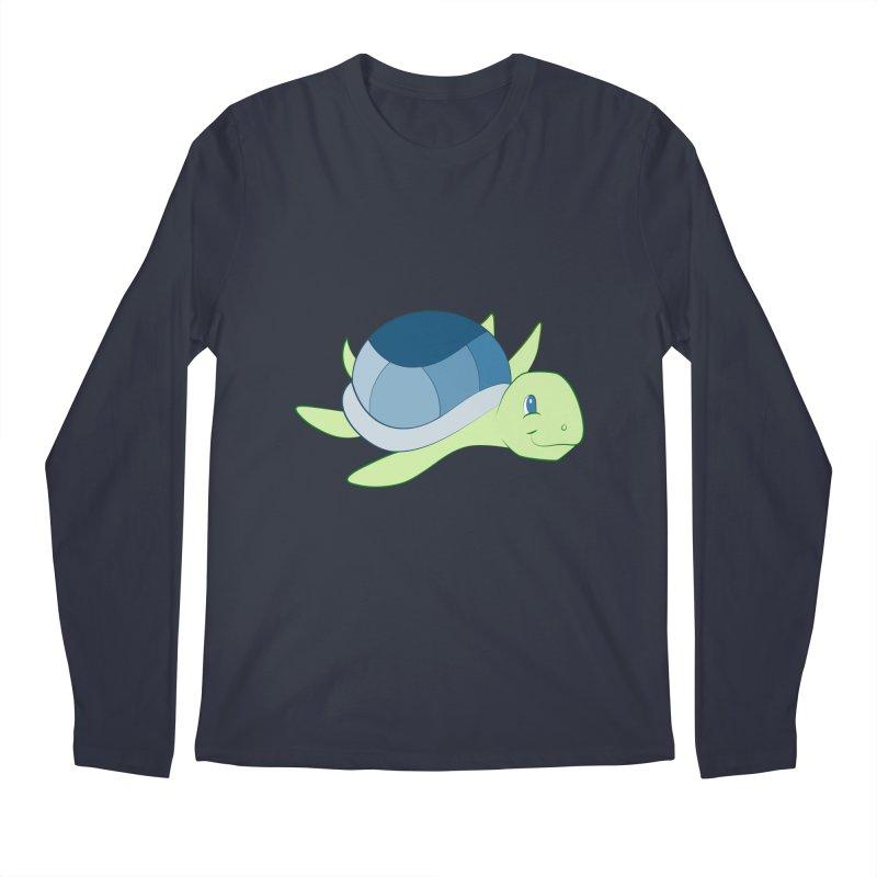 Shock Cousteau's Sea Turtle Men's Regular Longsleeve T-Shirt by Runderella's Artist Shop