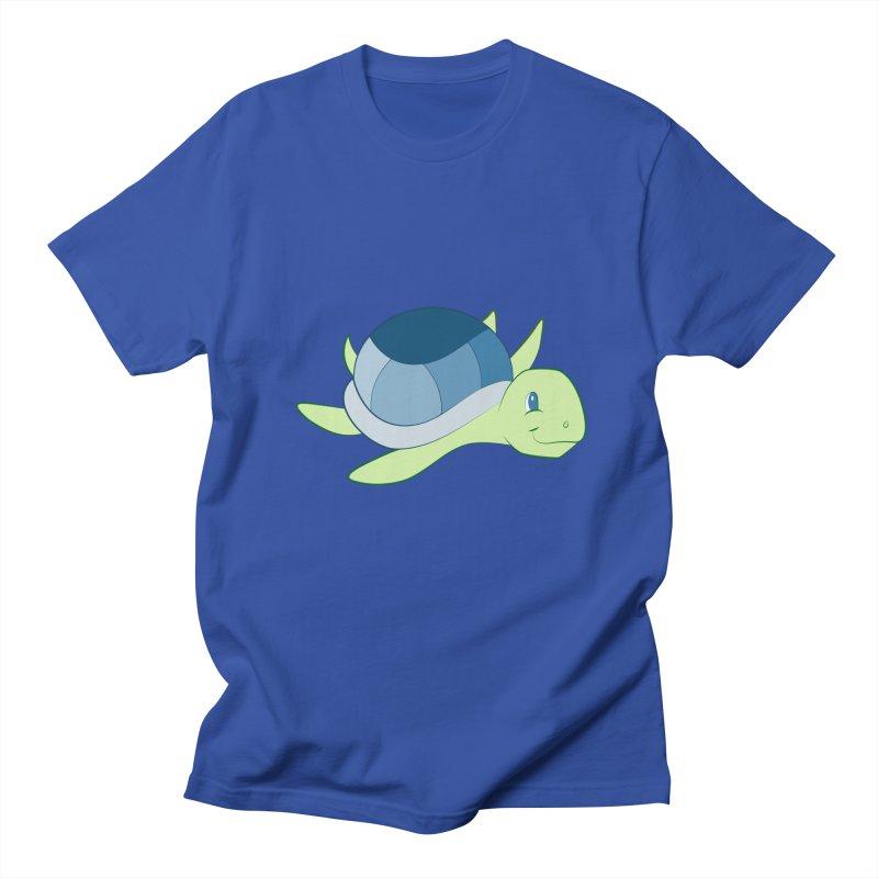 Shock Cousteau's Sea Turtle Men's Regular T-Shirt by Runderella's Artist Shop