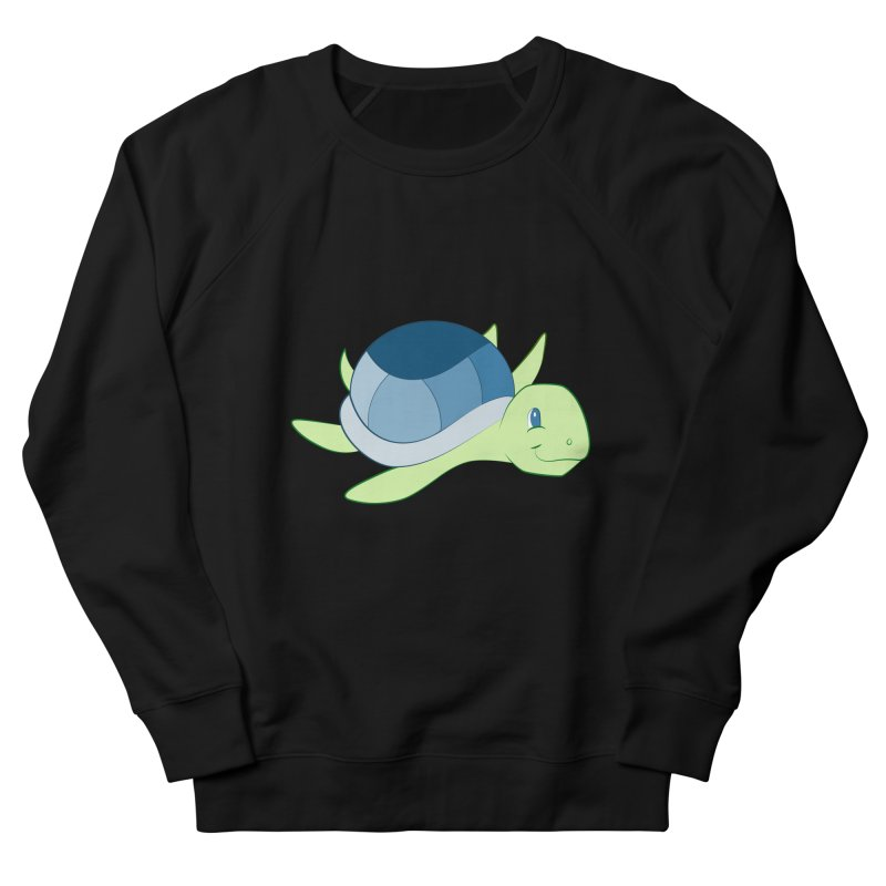 Shock Cousteau's Sea Turtle Men's French Terry Sweatshirt by Runderella's Artist Shop