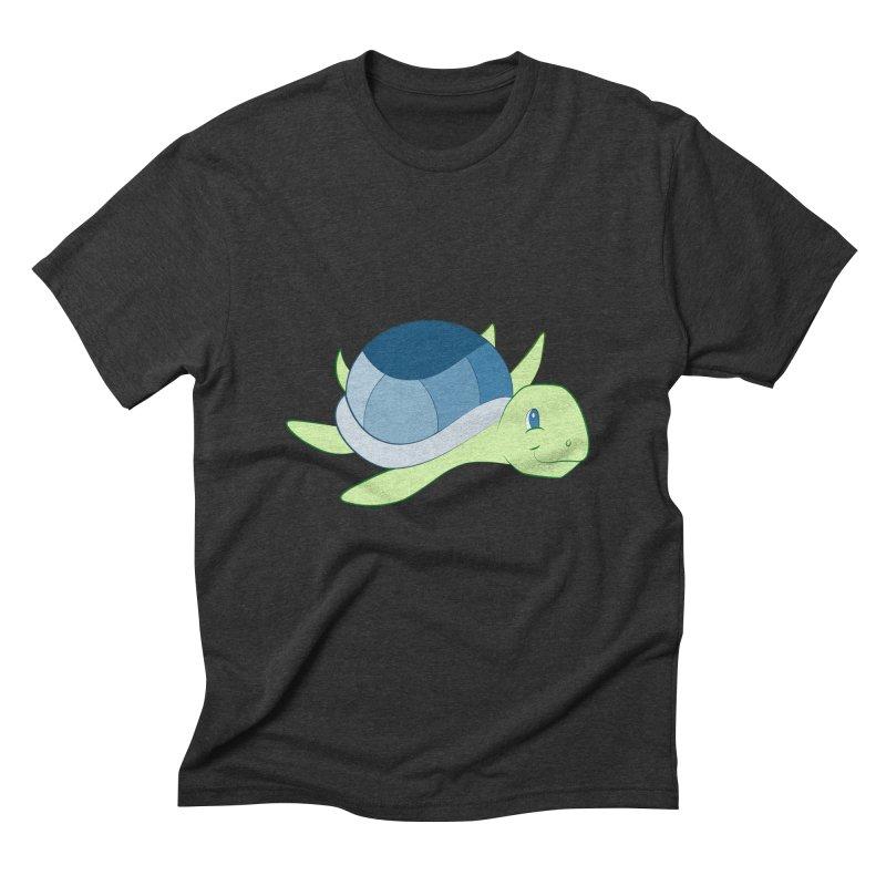 Shock Cousteau's Sea Turtle Men's Triblend T-Shirt by Runderella's Artist Shop