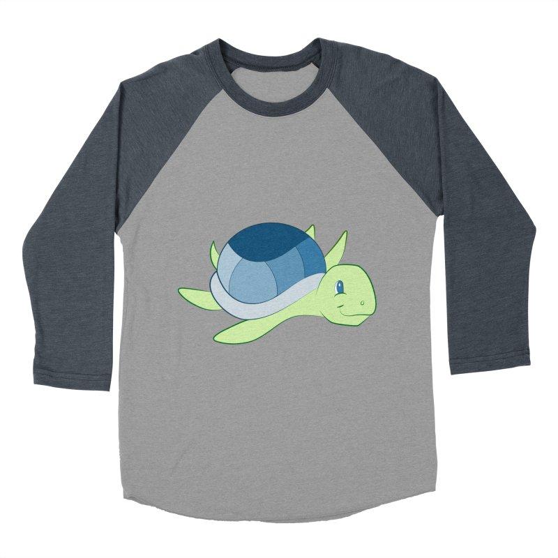 Shock Cousteau's Sea Turtle Men's Baseball Triblend Longsleeve T-Shirt by Runderella's Artist Shop