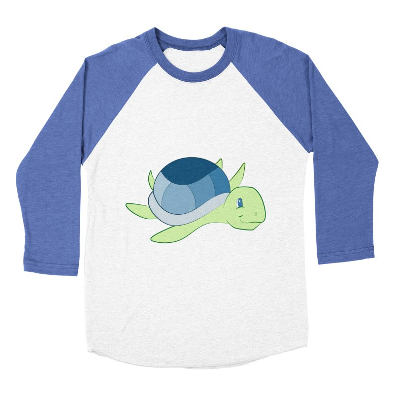 Shock Cousteau's Sea Turtle Men's Baseball Triblend Longsleeve T-Shirt by Runderella's Artist Shop