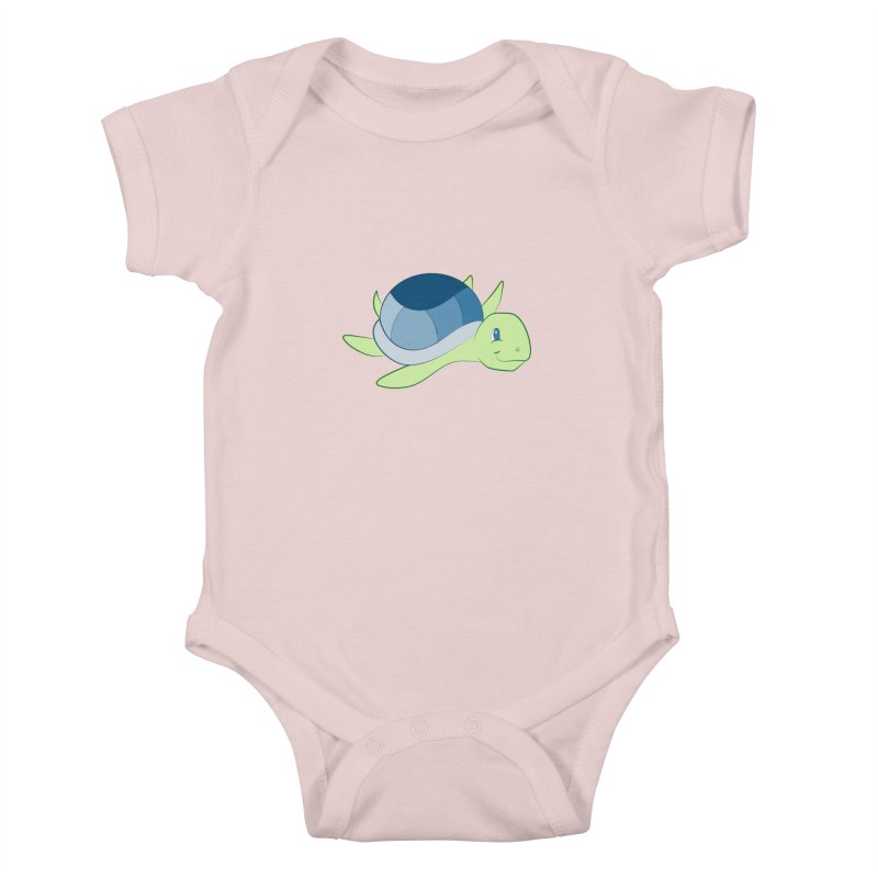 Shock Cousteau's Sea Turtle Kids Baby Bodysuit by Runderella's Artist Shop