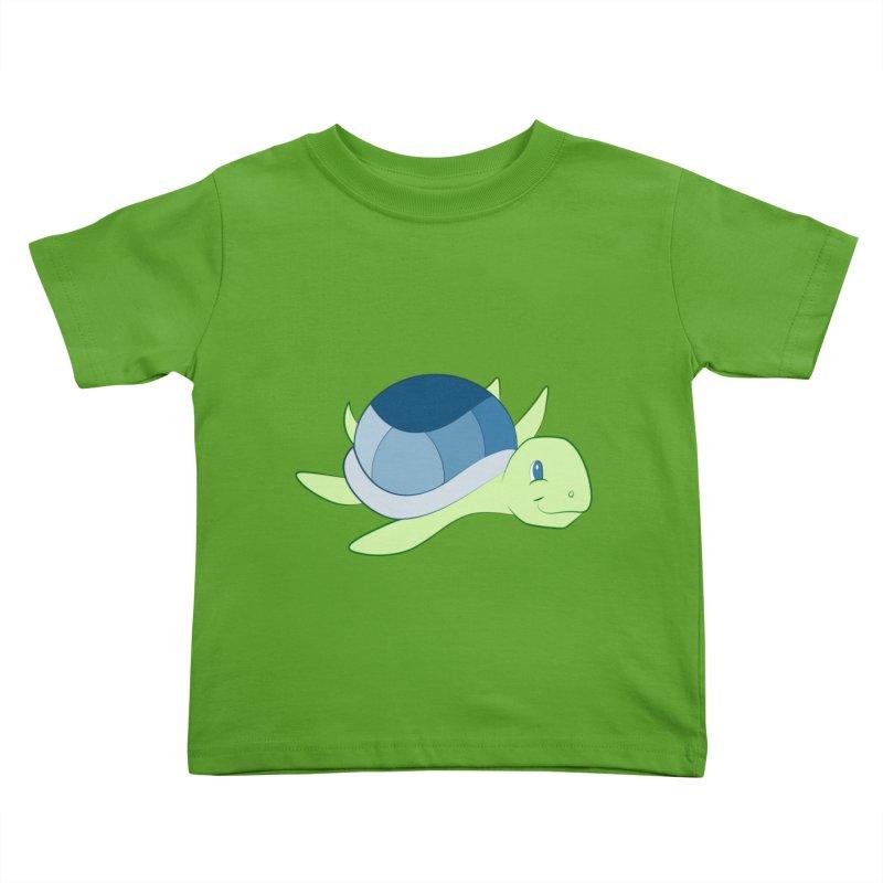 Shock Cousteau's Sea Turtle Kids Toddler T-Shirt by Runderella's Artist Shop
