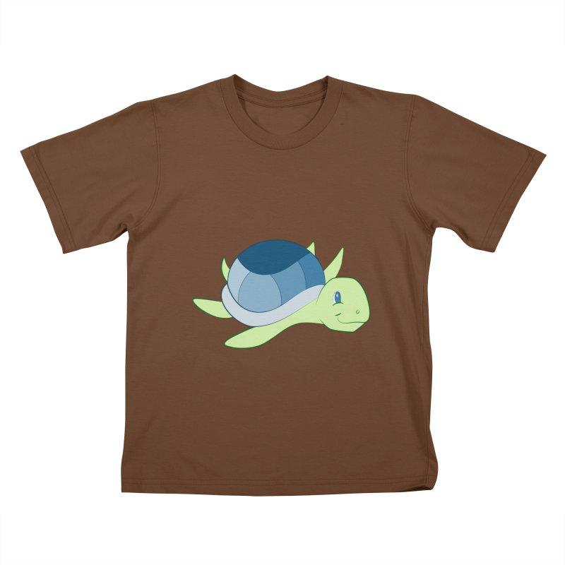 Shock Cousteau's Sea Turtle Kids T-Shirt by Runderella's Artist Shop
