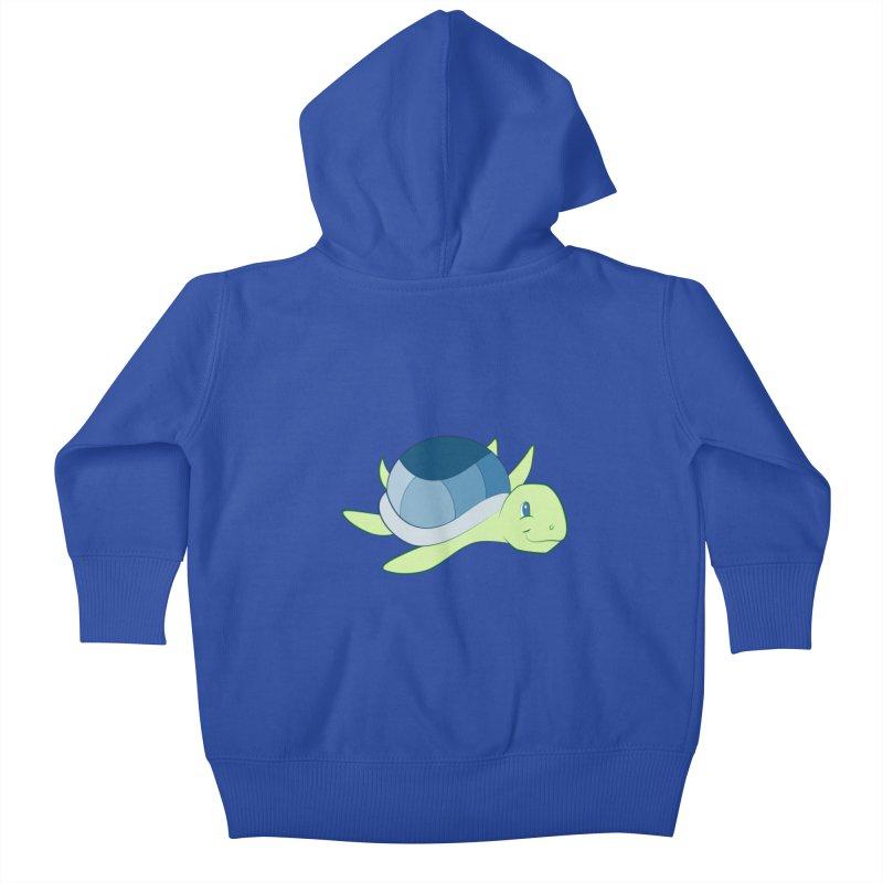 Shock Cousteau's Sea Turtle Kids Baby Zip-Up Hoody by Runderella's Artist Shop