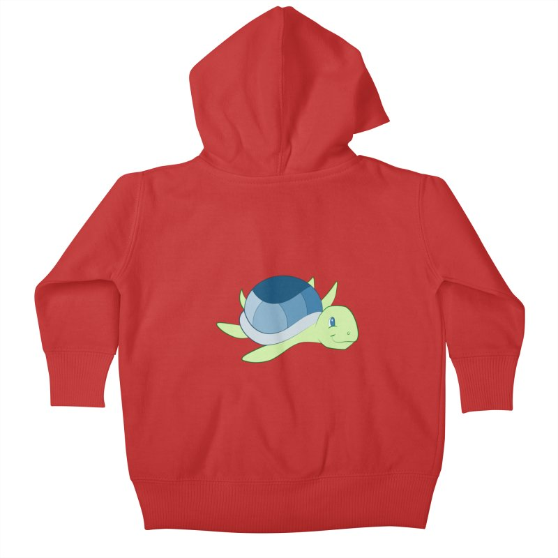 Shock Cousteau's Sea Turtle Kids Baby Zip-Up Hoody by Runderella's Artist Shop