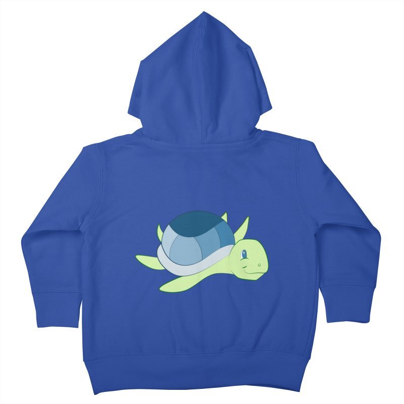 Shock Cousteau's Sea Turtle Kids Toddler Zip-Up Hoody by Runderella's Artist Shop