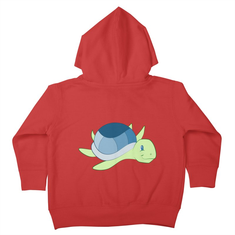 Shock Cousteau's Sea Turtle Kids Toddler Zip-Up Hoody by Runderella's Artist Shop
