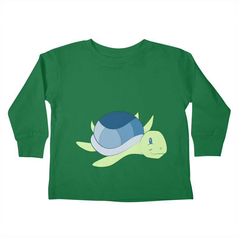 Shock Cousteau's Sea Turtle Kids Toddler Longsleeve T-Shirt by Runderella's Artist Shop
