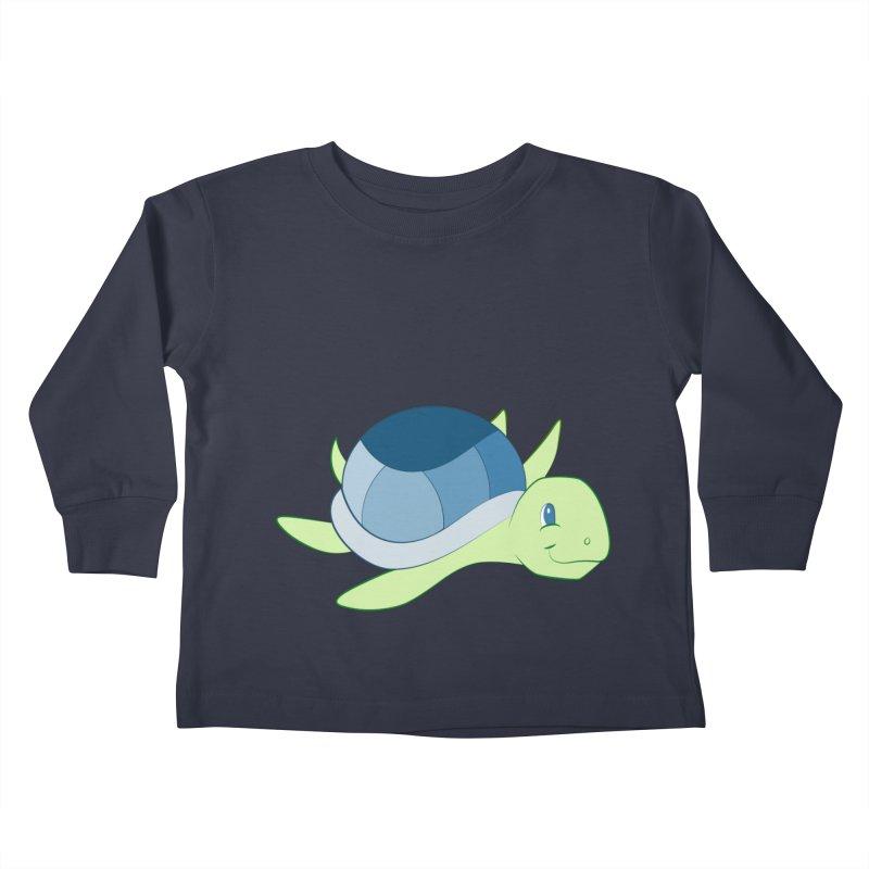 Shock Cousteau's Sea Turtle Kids Toddler Longsleeve T-Shirt by Runderella's Artist Shop