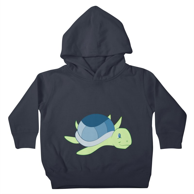 Shock Cousteau's Sea Turtle Kids Toddler Pullover Hoody by Runderella's Artist Shop