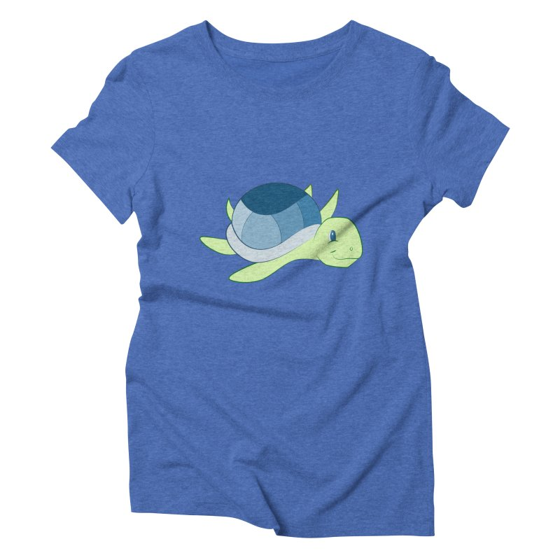 Shock Cousteau's Sea Turtle Women's Triblend T-Shirt by Runderella's Artist Shop