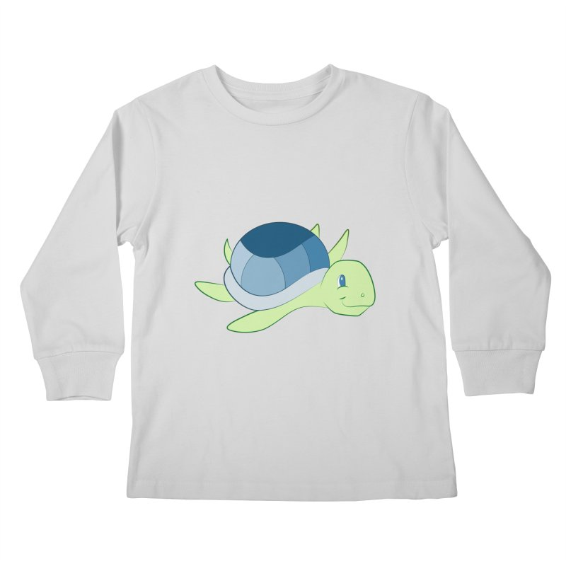 Shock Cousteau's Sea Turtle Kids Longsleeve T-Shirt by Runderella's Artist Shop