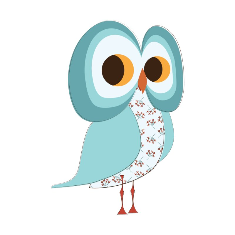Proud Retro Owl by Runderella's Artist Shop