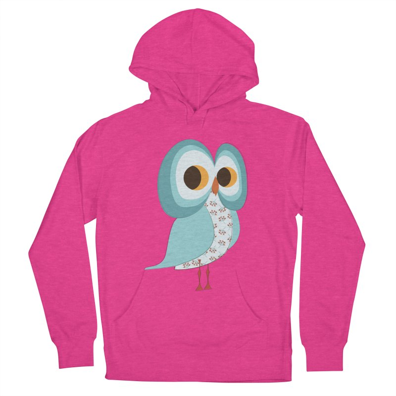 Proud Retro Owl Women's French Terry Pullover Hoody by Runderella's Artist Shop