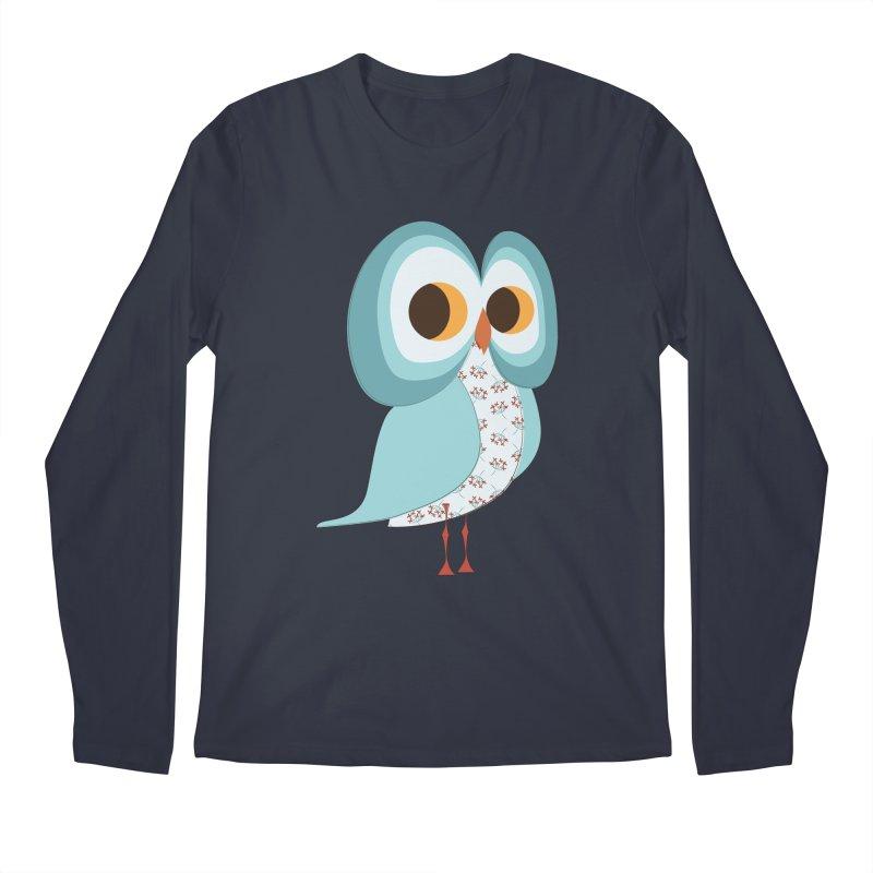 Proud Retro Owl Men's Regular Longsleeve T-Shirt by Runderella's Artist Shop
