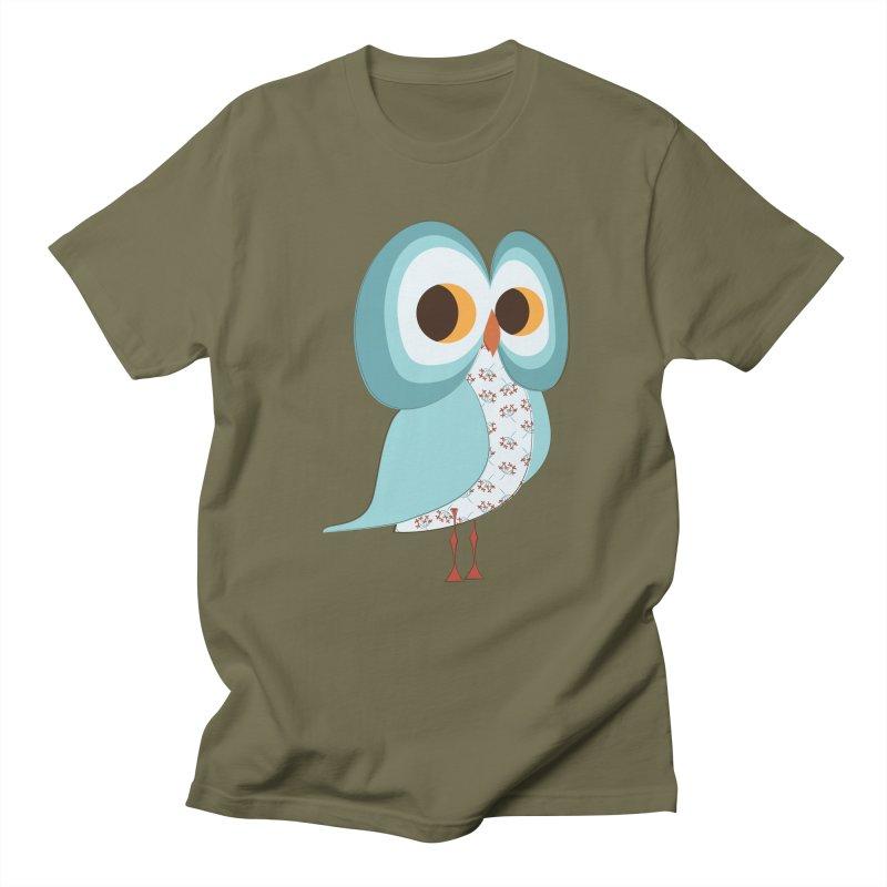 Proud Retro Owl Men's Regular T-Shirt by Runderella's Artist Shop