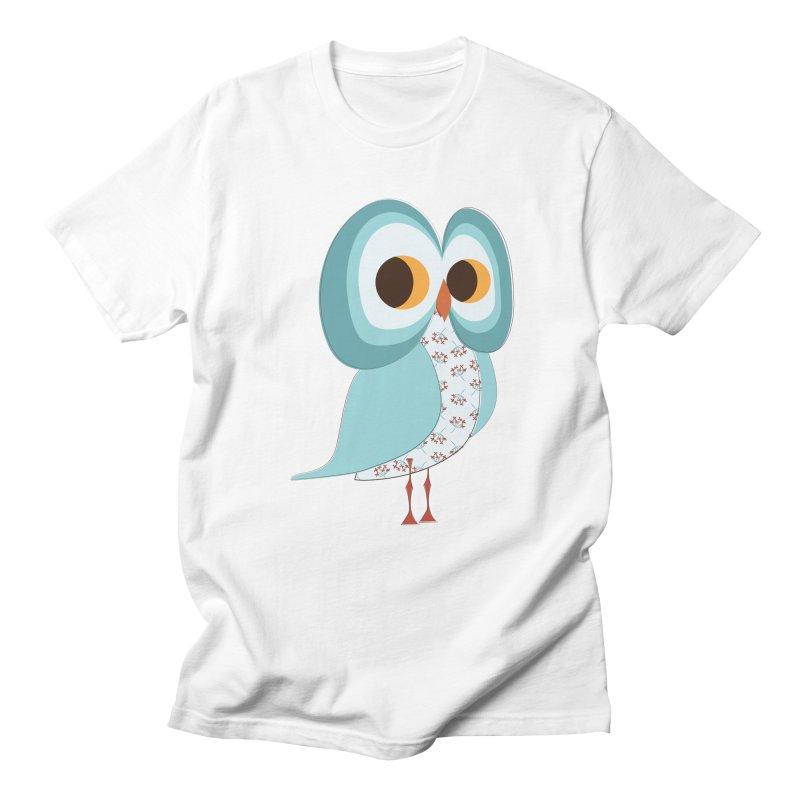 Proud Retro Owl Women's Regular Unisex T-Shirt by Runderella's Artist Shop