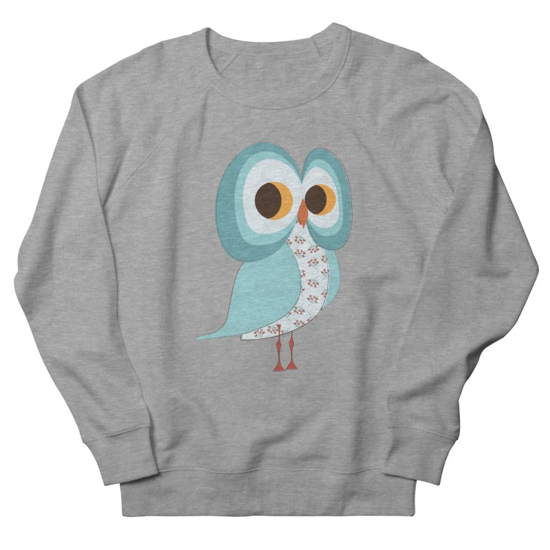 Proud Retro Owl Women's French Terry Sweatshirt by Runderella's Artist Shop