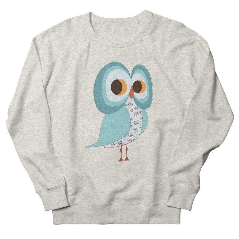 Proud Retro Owl Women's French Terry Sweatshirt by Runderella's Artist Shop