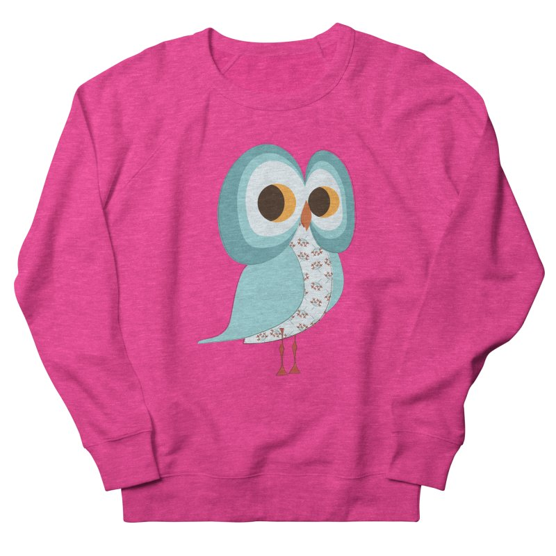 Proud Retro Owl Men's French Terry Sweatshirt by Runderella's Artist Shop