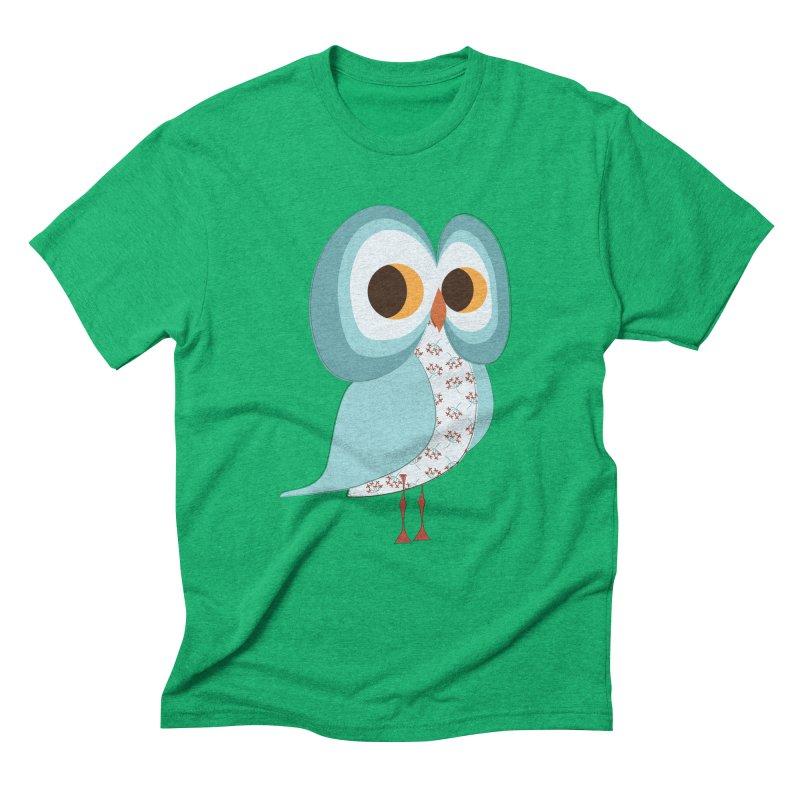 Proud Retro Owl Men's Triblend T-Shirt by Runderella's Artist Shop