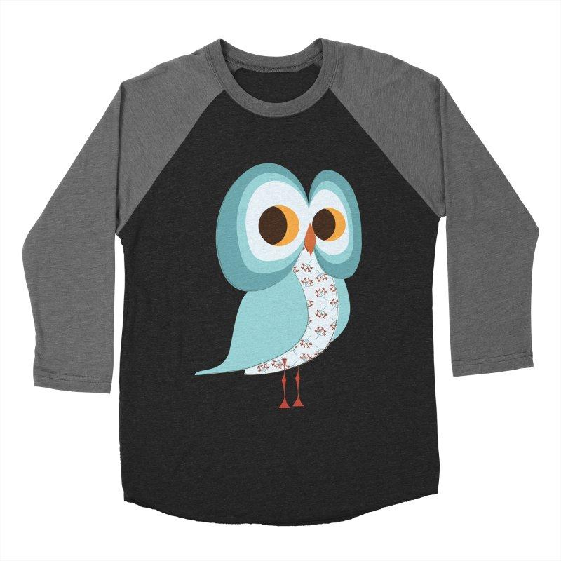 Proud Retro Owl Women's Baseball Triblend Longsleeve T-Shirt by Runderella's Artist Shop