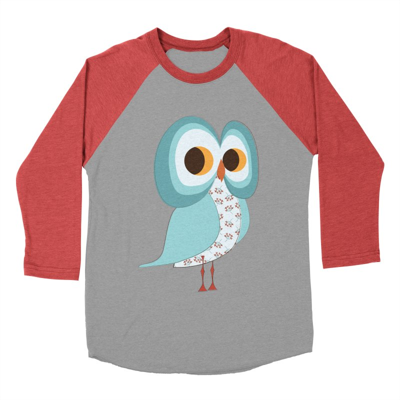 Proud Retro Owl Men's Baseball Triblend Longsleeve T-Shirt by Runderella's Artist Shop